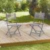 Összecsukható kerti szék barna