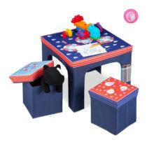 Babali gyerek asztal szett kék