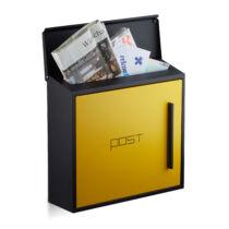 Drogo fém kerti postaláda fekete-sárga