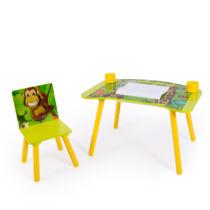 Dzsungel 2 részes gyerek asztal és szék szett, rajzasztal