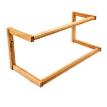 Nomba fali törölközőtartó bambuszból 2 karos