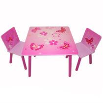 Pillangos 3 részes gyerek asztal és szék szett