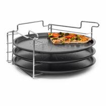 Pizzasütő formák állvánnyal (3 db)