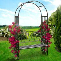 Rózsafuttatós kerti pad