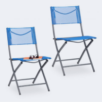 Összecsukható kerti szék kék