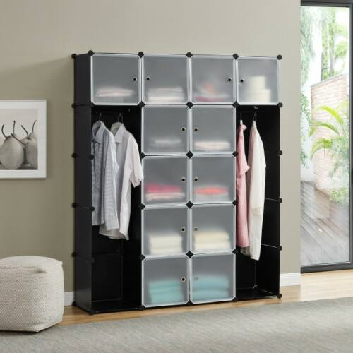 Gigantic 12 fakkos mobil gardrób szekrény, tároló ruha akasztóval