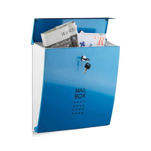 Evian fém kerti postaláda kék