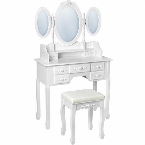 Pauline 3 tükrös sminkasztal fésülködőasztal krém
