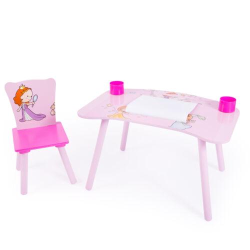 Hercegnős 2 részes gyerek asztal és szék szett, rajzasztal