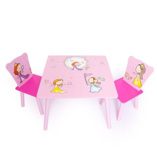 Hercegnős 3 részes gyerek asztal és szék szett