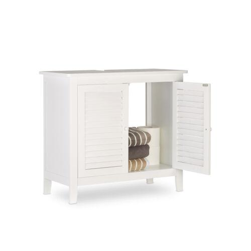 Lamell mosdószekrény, fürdőszoba szekrény fehér