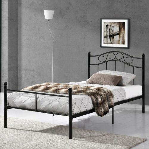Martin 90x200cm fém ágykeret ágyráccsal fekete