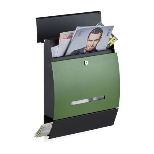 Zelda fém kerti postaláda fekete-zöld